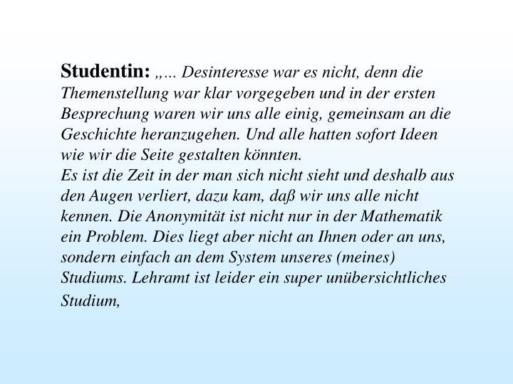 Studentin:
