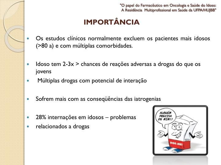 """""""O papel do Farmacêutico em Oncologia e Saúde do Idoso:"""