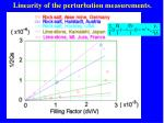 linearity of the perturbation measurements2