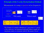 principle of the cavity perturbation method