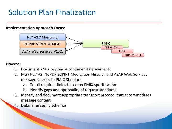 Solution Plan Finalization