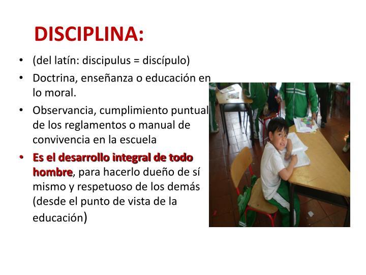 DISCIPLINA:
