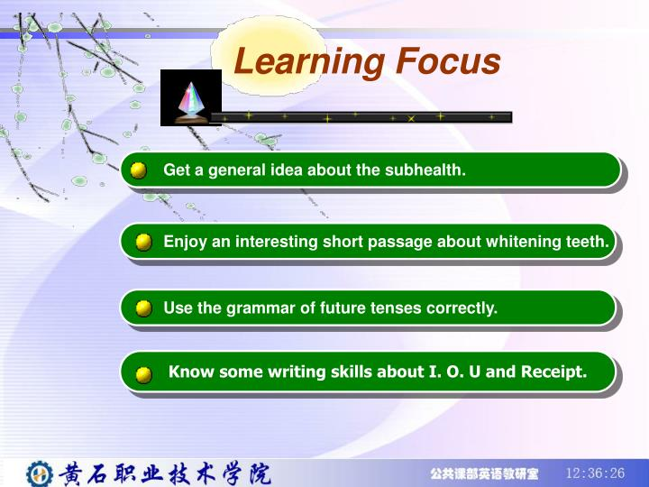 Learning Focus
