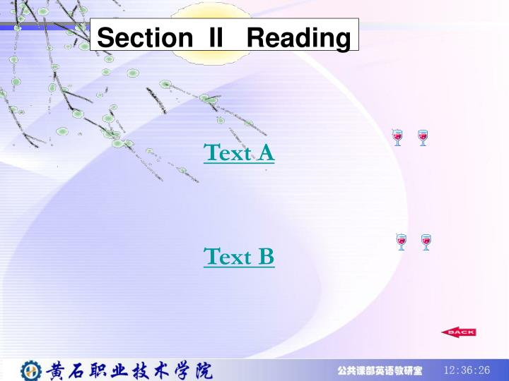 Section  II   Reading