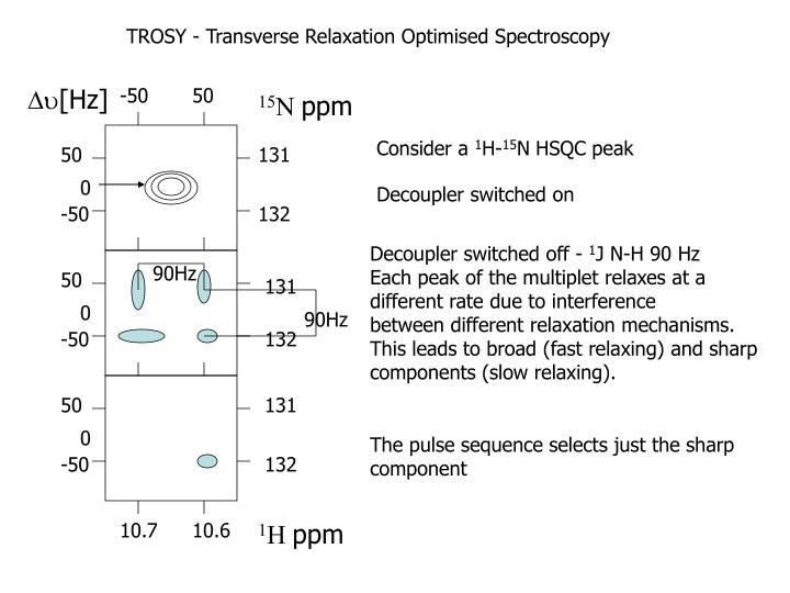 TROSY - Transverse Relaxation Optimised Spectroscopy