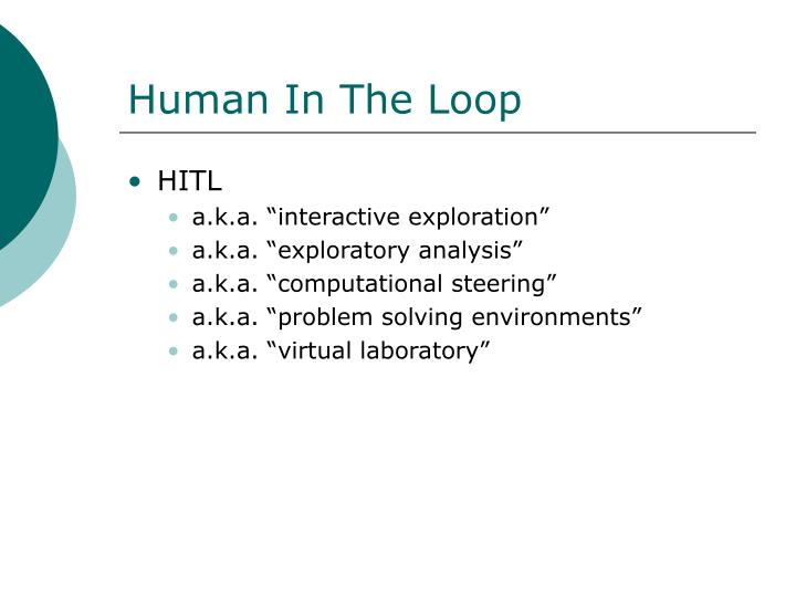 Human In The Loop