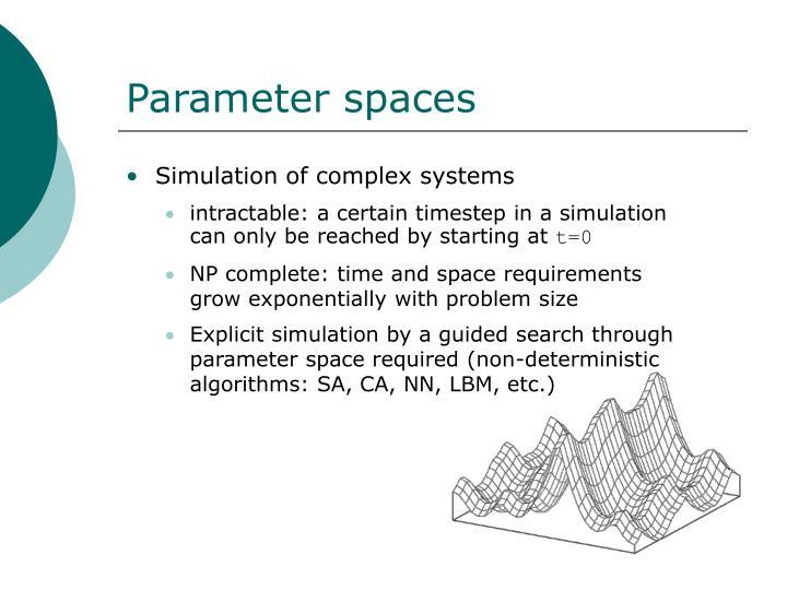 Parameter spaces