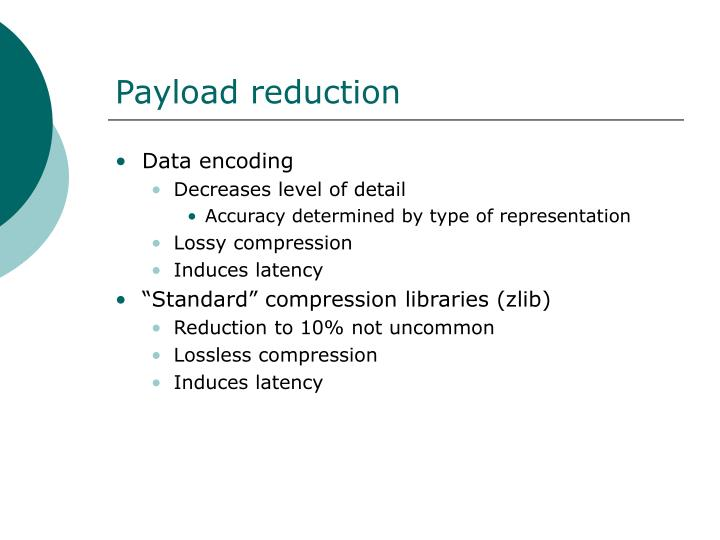 Payload reduction