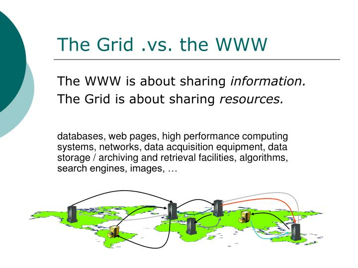 The Grid .vs. the WWW