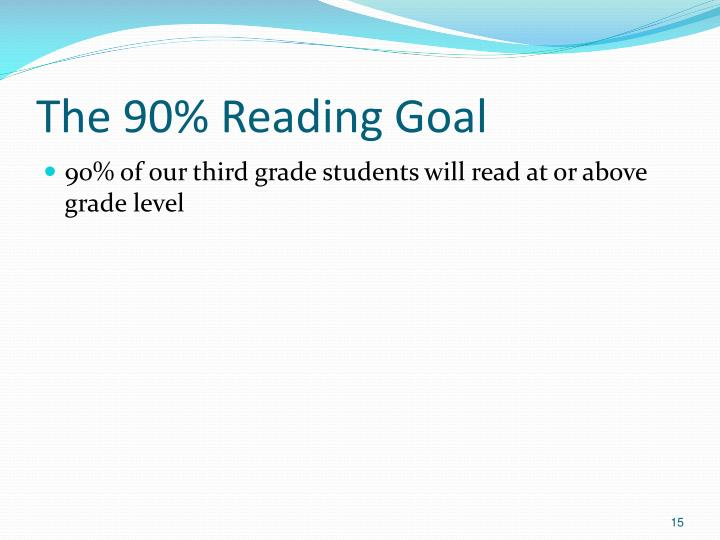The 90% Reading Goal