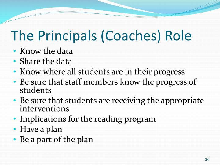 The Principals (Coaches) Role