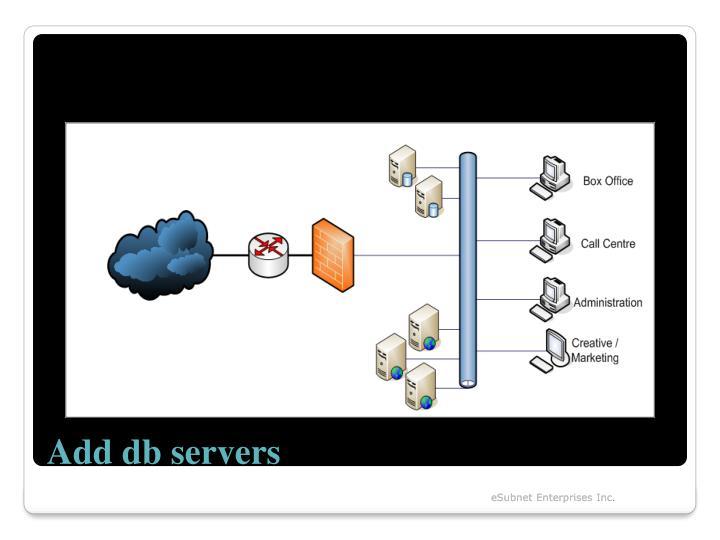 Add db servers