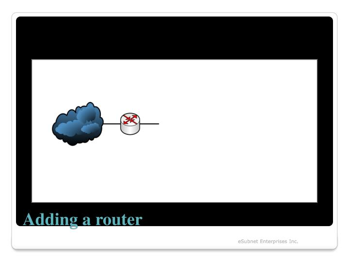Adding a router