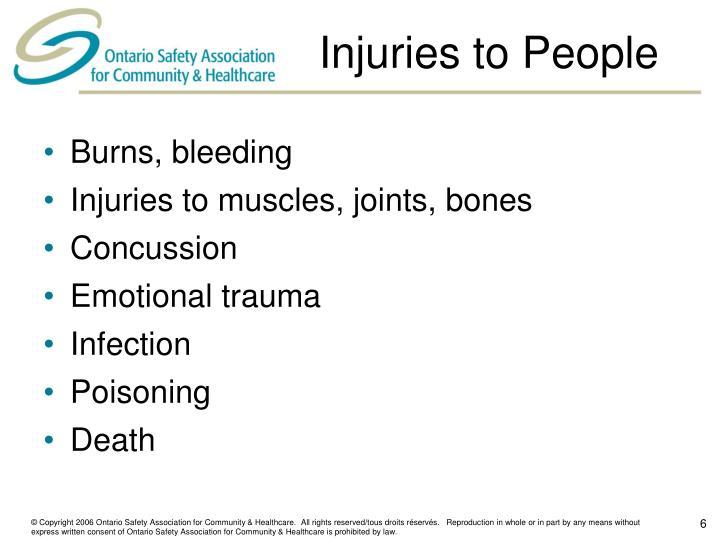 Injuries to People