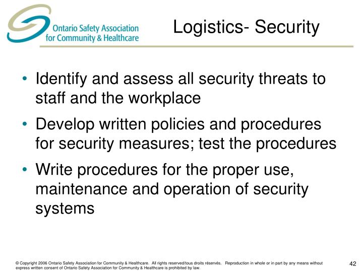 Logistics- Security