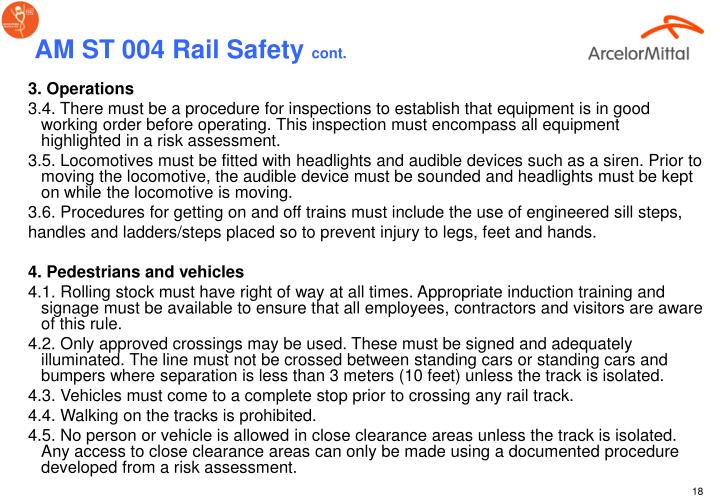 AM ST 004 Rail Safety