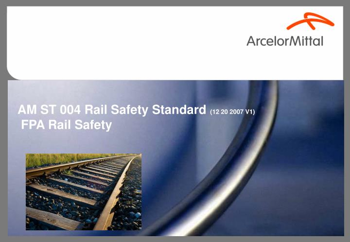 AM ST 004 Rail Safety Standard