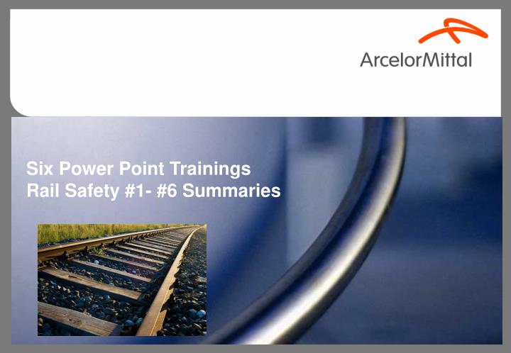Six Power Point Trainings