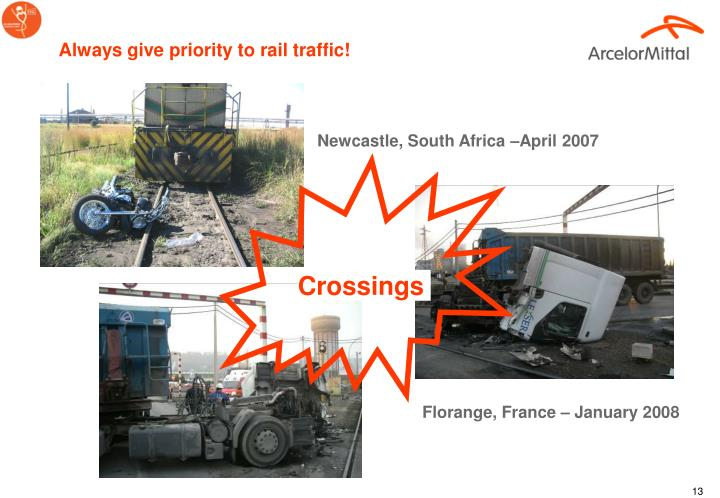 Always give priority to rail traffic!