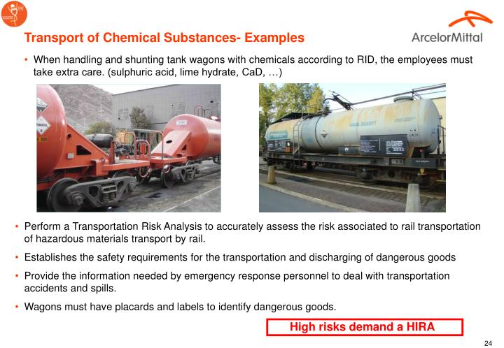 Transport of Chemical Substances- Examples