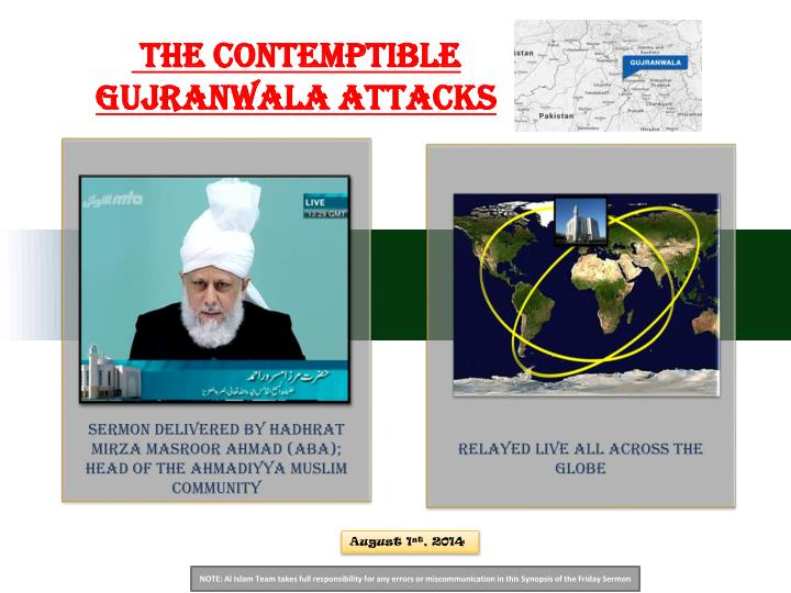 The Contemptible Gujranwala Attacks
