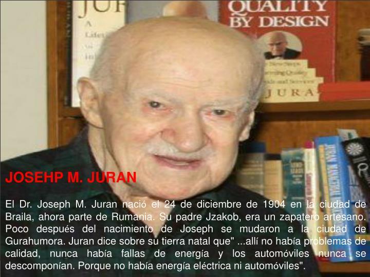 JOSEHP M. JURAN