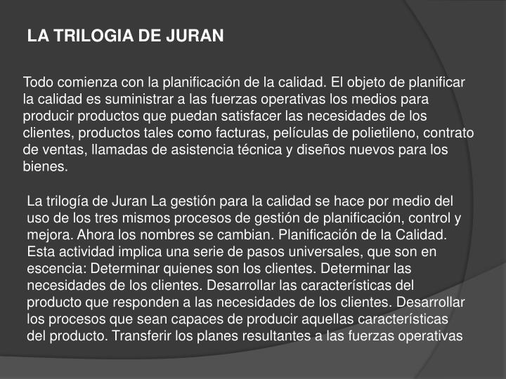 LA TRILOGIA DE JURAN