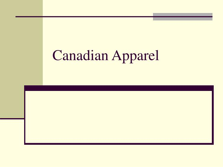 Canadian Apparel