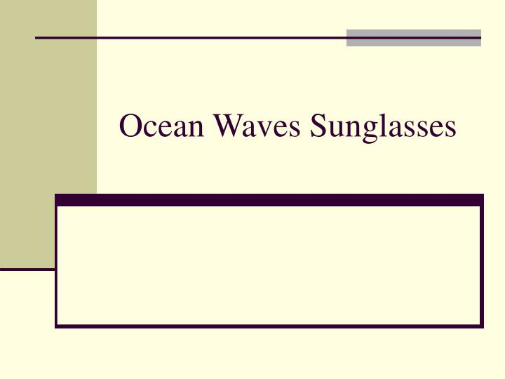 Ocean Waves Sunglasses