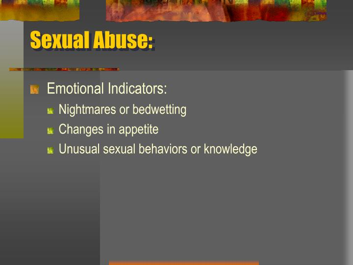 Sexual Abuse: