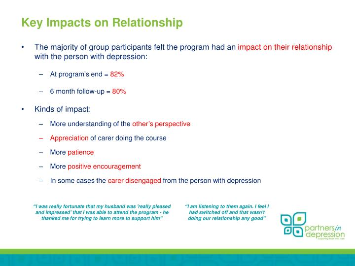 Key Impacts on Relationship