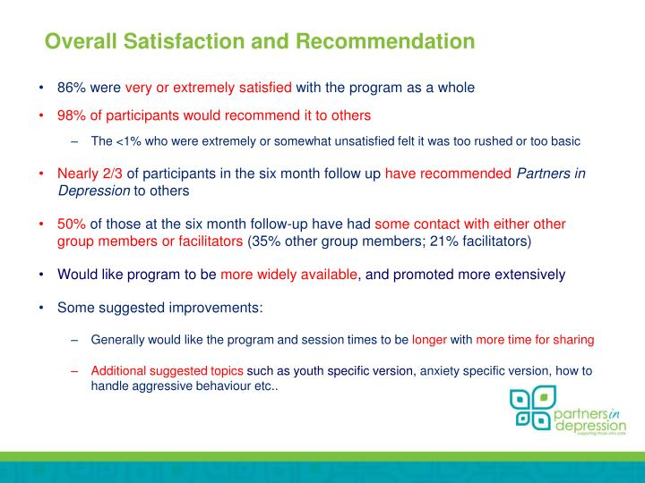 Overall Satisfaction and Recommendation