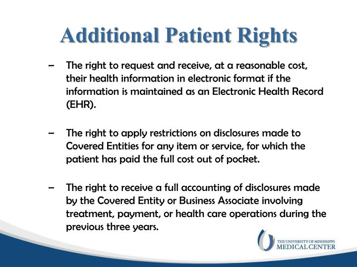 Additional Patient Rights