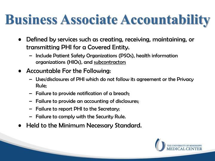 Business Associate Accountability