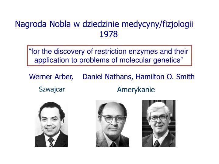 Nagroda Nobla w dziedzinie medycyny/fizjologii