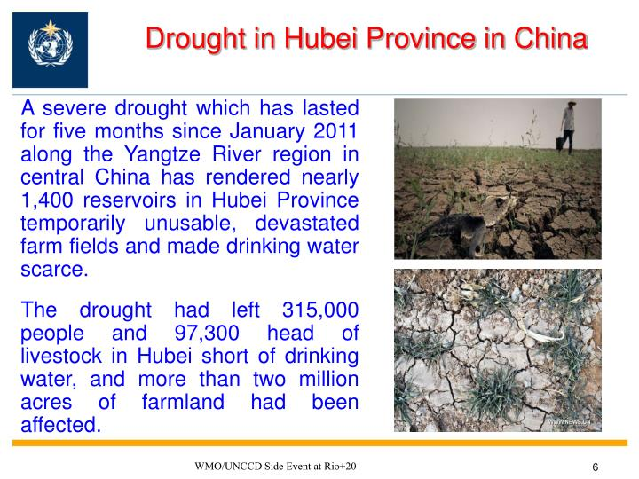 Drought in Hubei Province in China