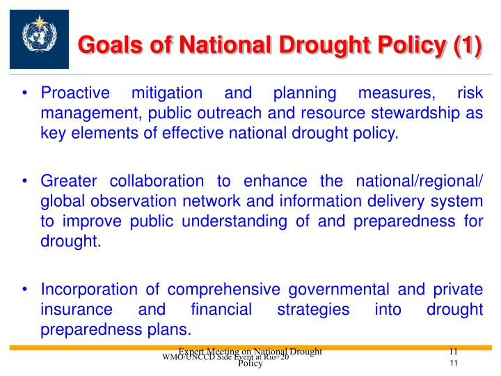 Goals of National Drought Policy (1)