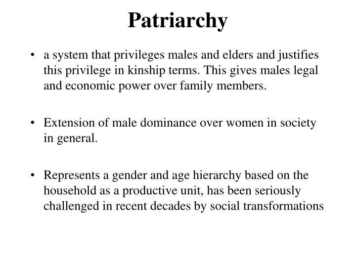 Patriarchy gender and sexual desires