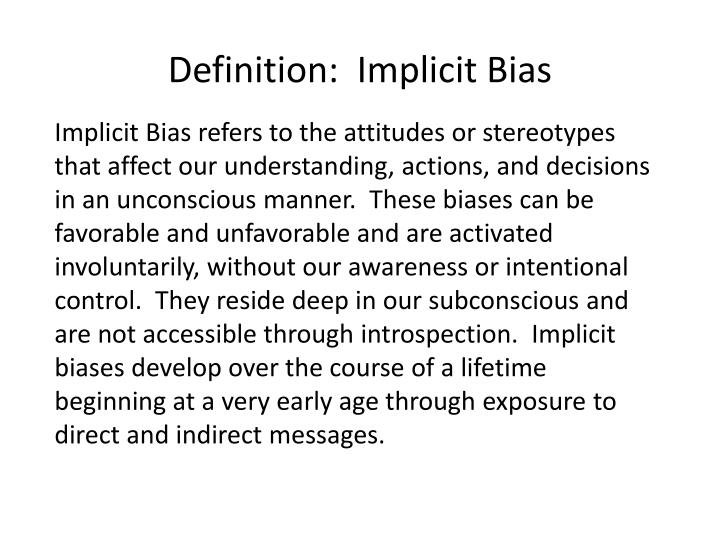 the battle against implicit bias through government policy Hector amezcua the sacramento bee campaigns for and against the 17 measures on california's fall ballot battling 'implicit bias' among police 'has.
