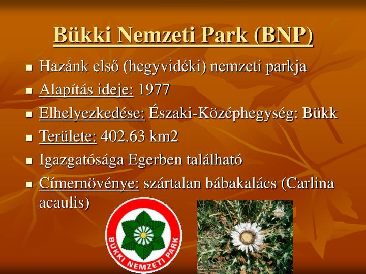 Bkki Nemzeti Park (BNP)