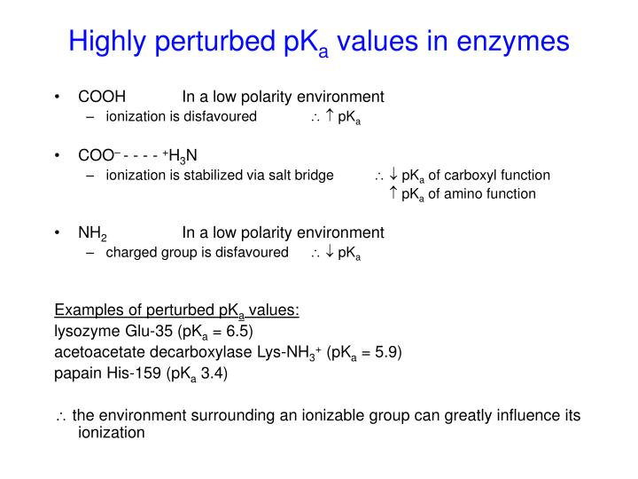 Highly perturbed pK