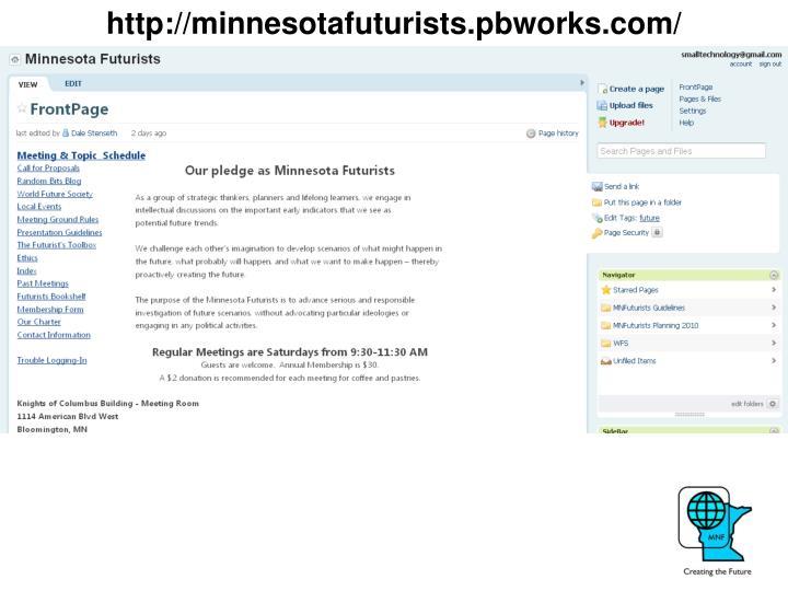 http://minnesotafuturists.pbworks.com/