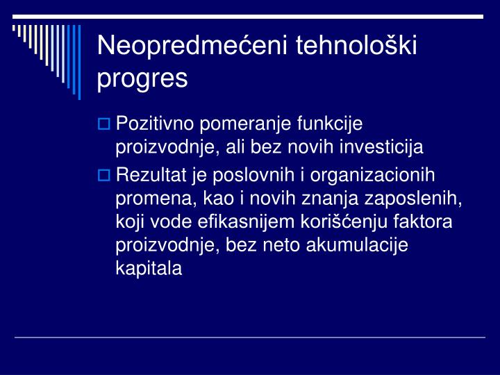 Neopredmećeni tehnološki progres