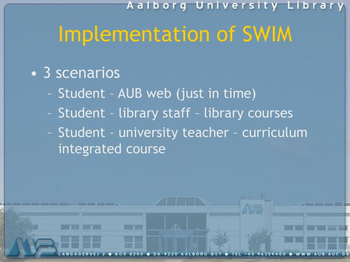 Implementation of SWIM