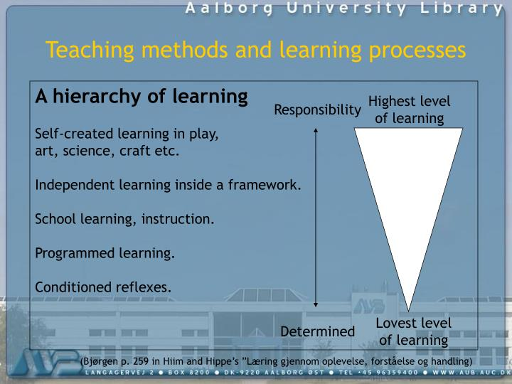 Teaching methods and learning processes