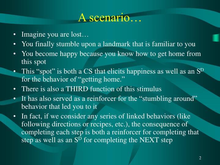 A scenario…