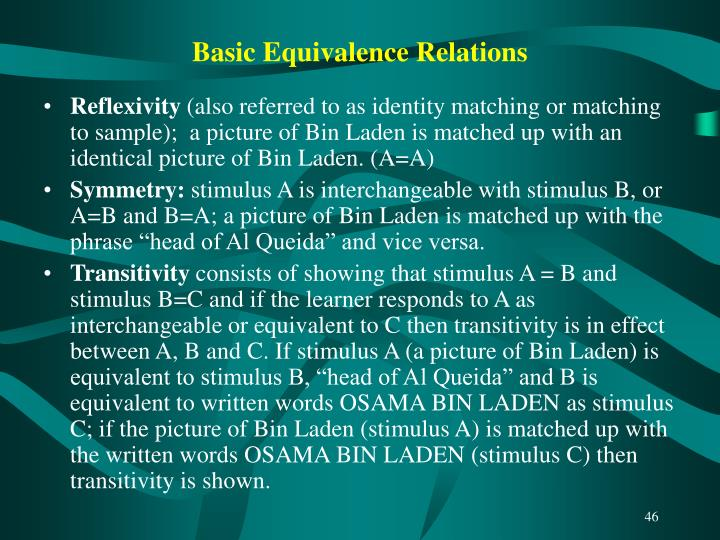 Basic Equivalence Relations