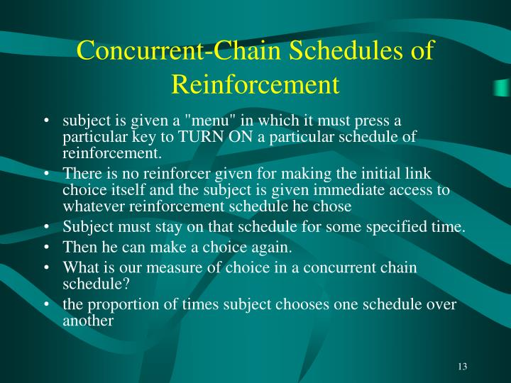 Concurrent-Chain Schedules of Reinforcement
