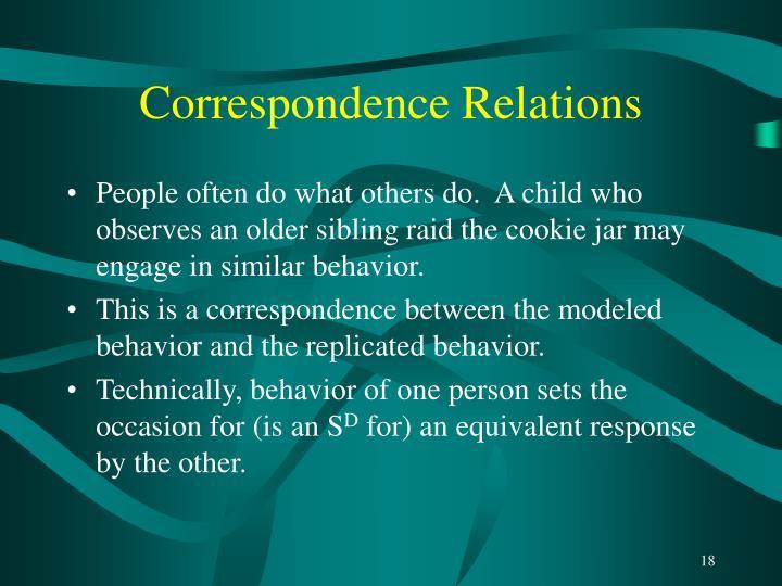 Correspondence Relations