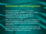 instructions and contingencies